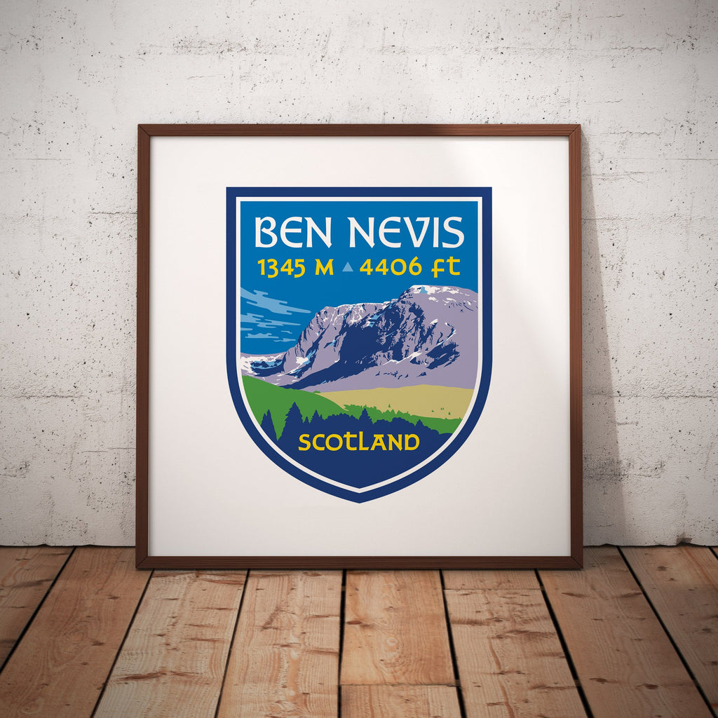 Ben Nevis Scotland UK Mountain Travel Giclee Art Print