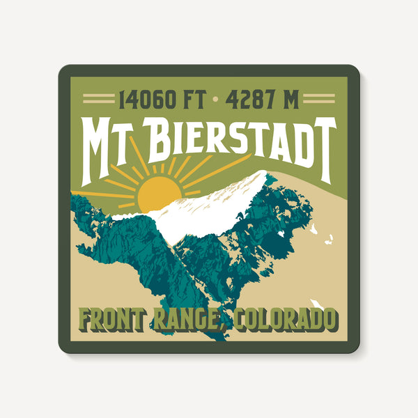 Mount Bierstadt Colorado 14er Mountain Travel Decal Sticker