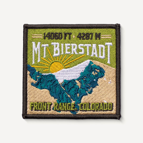 Mount Bierstadt Colorado 14er Patch Embroidered Mountain Travel