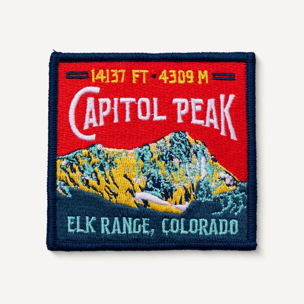 Capitol Peak Colorado 14er Patch Embroidered Iron-on Mountain Travel