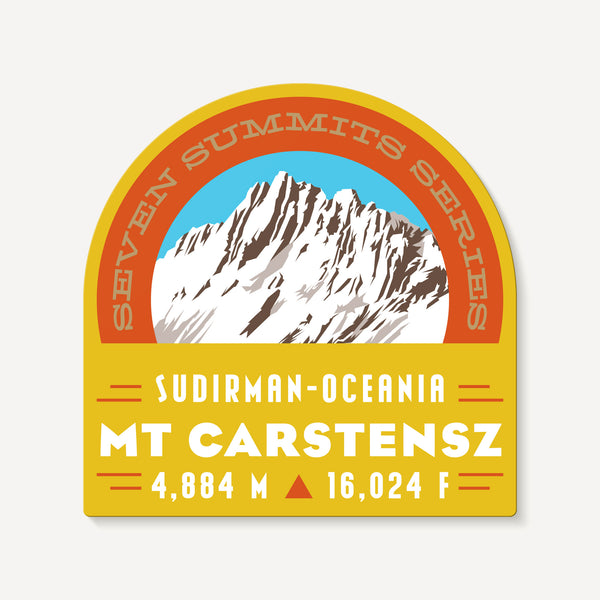 Carstensz Pyramid Seven Summits Mountain Travel Decal Sticker