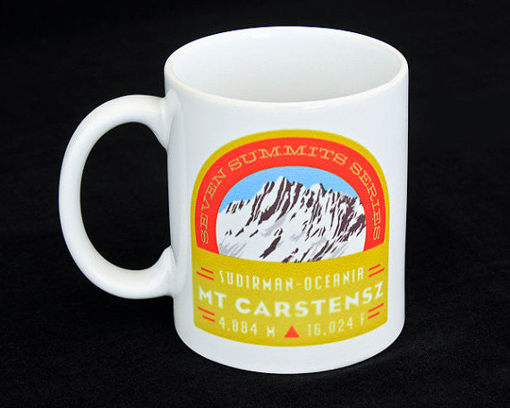 Mt. Carstensz Seven Summits Coffee Mug