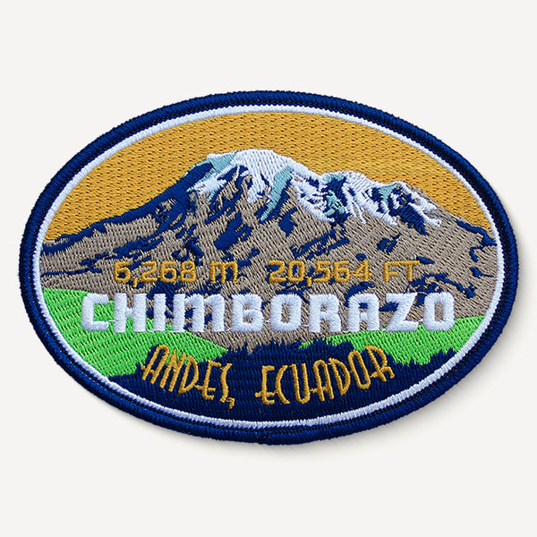 Chimborazo Andes Ecuador Mountain Travel Patch