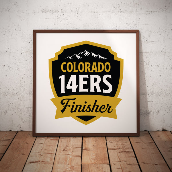 Colorado 14ers Finisher Print