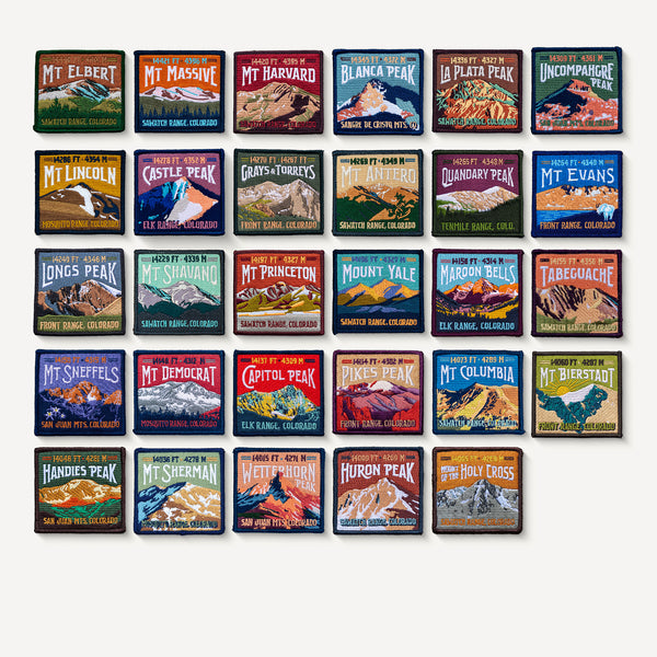 Colorado 14ers Patch Collection