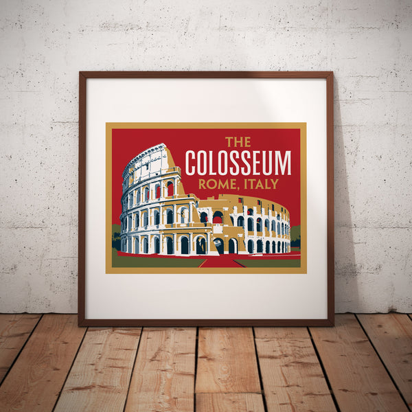The Colosseum Rome Italy Art Print