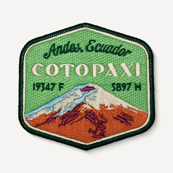 Cotopaxi Andes Ecuador Patch Embroidered Iron-on Mountain Travel