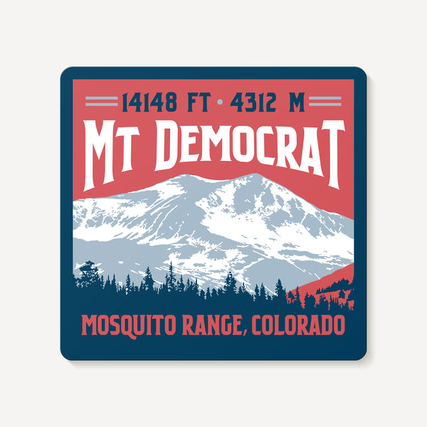 Mt. Democrat Colorado 14er Decal Sticker
