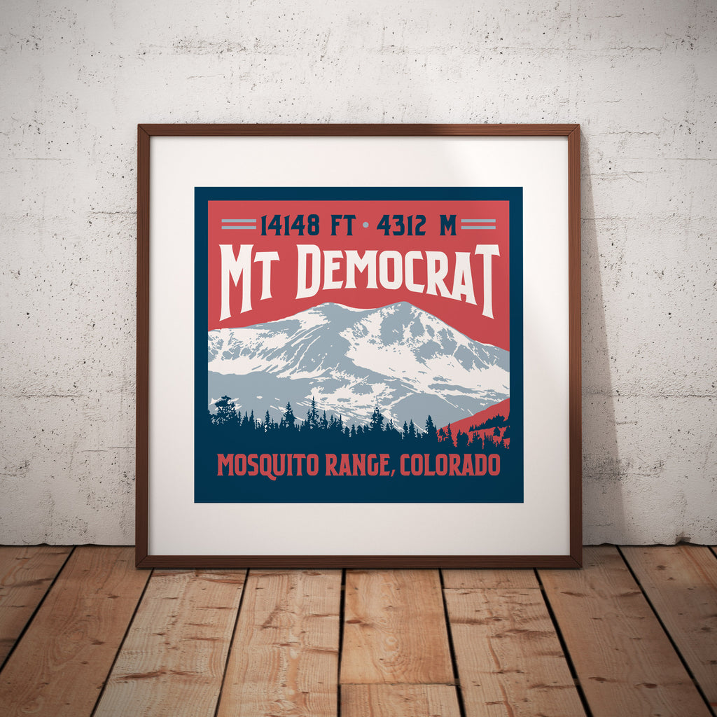 Mt. Democrat Colorado 14er Print