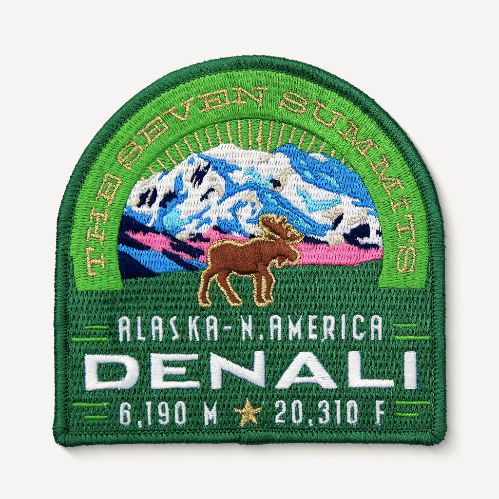 Denali Alaska Seven Summits Patch Embroidered Iron-on Mountain Travel