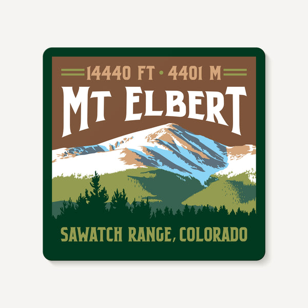 Mount Elbert Colorado 14er Mountain Travel Decal Sticker