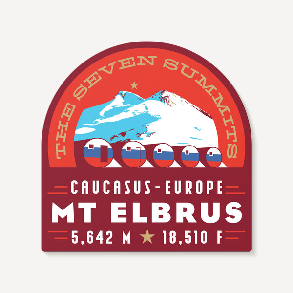 Mount Elbrus Russia Seven Summits Mountain Travel Decal Sticker