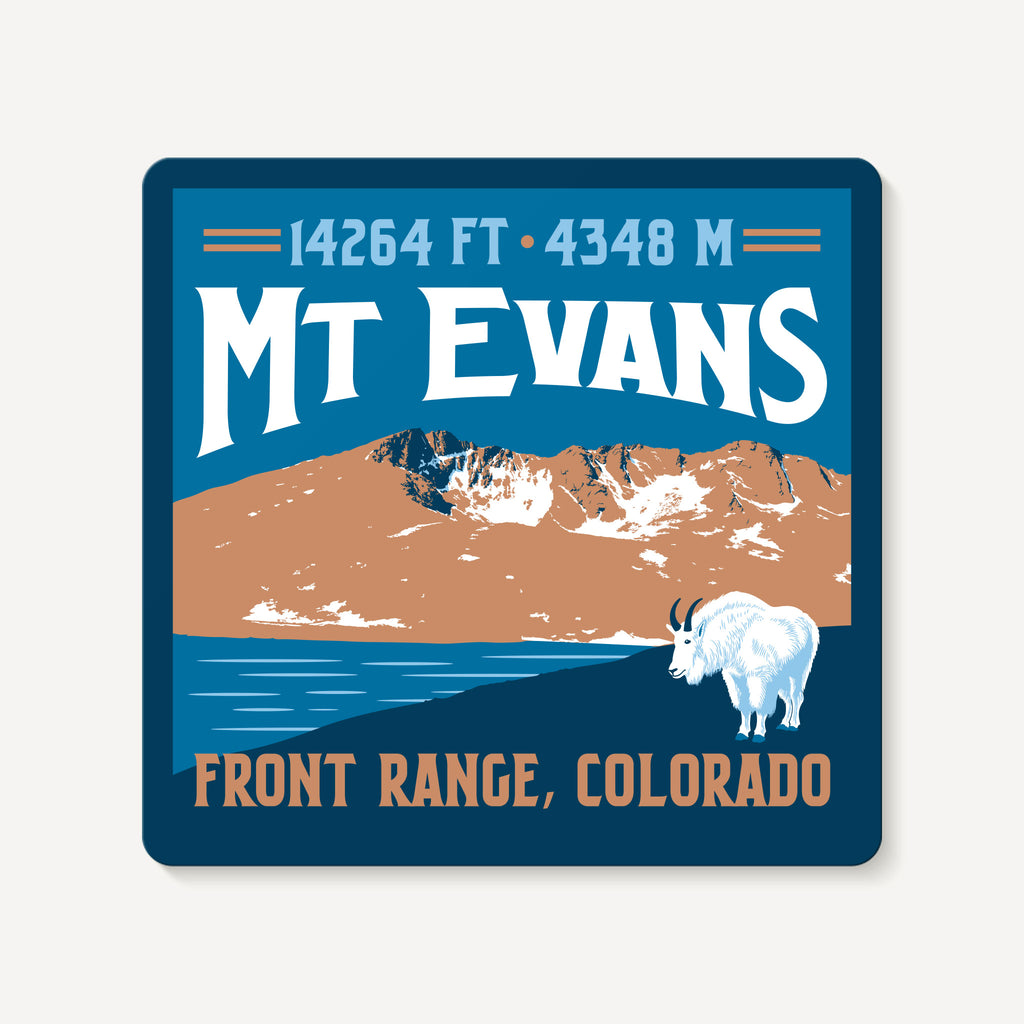 Mount Evans Colorado 14er Mountain Travel Decal Sticker