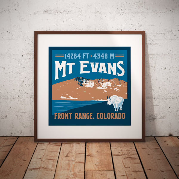Mt. Evans Colorado 14er Giclee Art Print