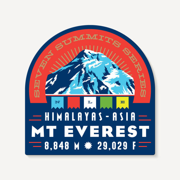 Mount Everest Seven Summits Himalayas Asia Mountain Travel Decal Sticker