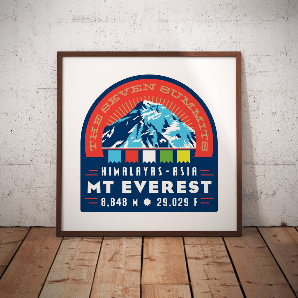Mount Everest Nepal Asia Seven Summits Giclee Art Print