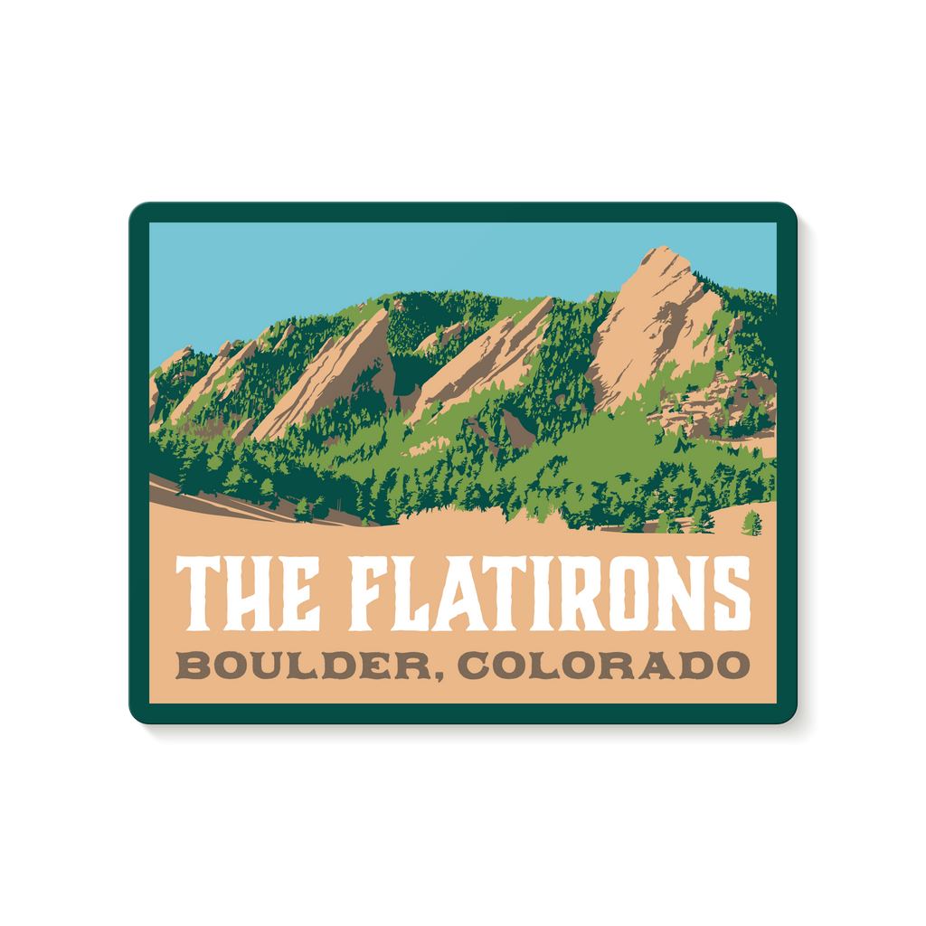 The Boulder Flatirons Travel Decal Sticker
