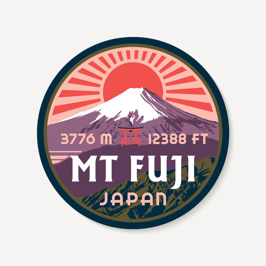 Mount Fuji Fujisan Japan Travel Decal Sticker