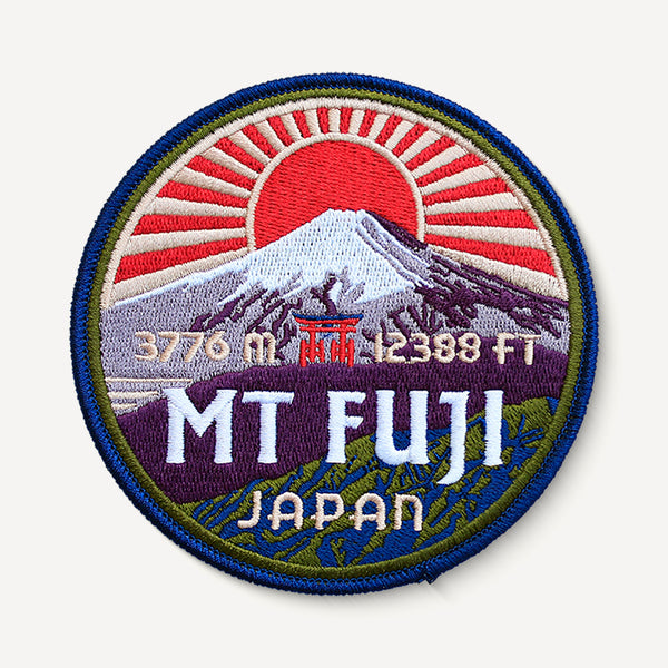 Mount Fuji Japan Patch Embroidered Iron-on Mountain Travel