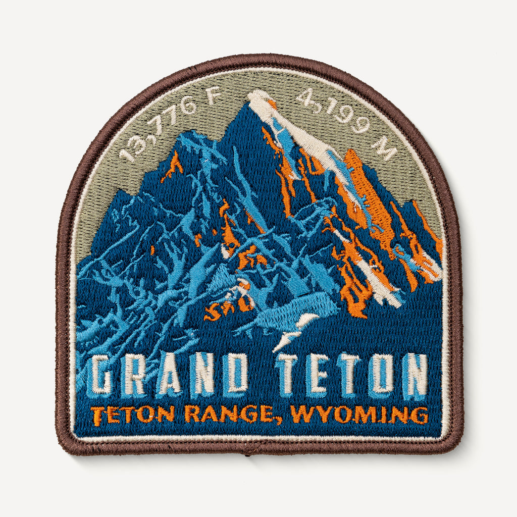 Grand Teton Wyoming Mountain Travel Patch