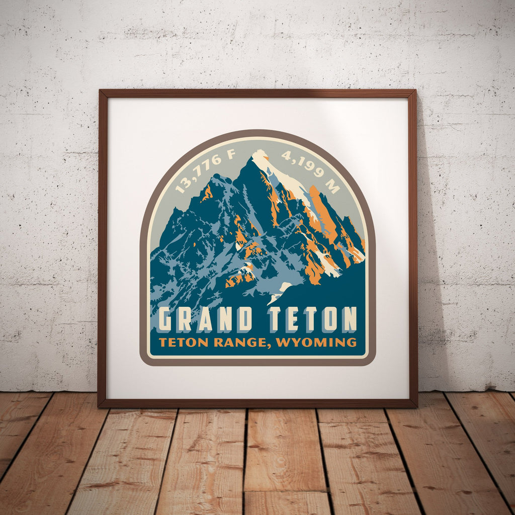 Grand Teton Wyoming Giclee Art Print