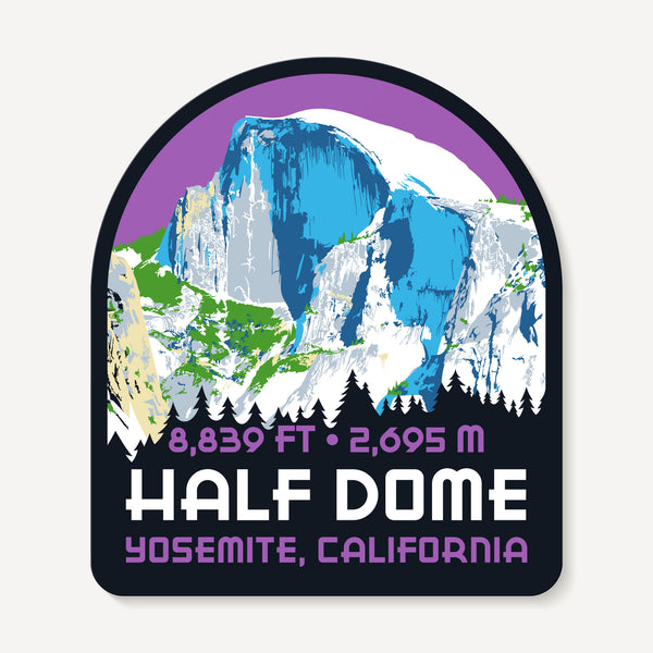Half Dome Yosemite California Travel Decal Sticker