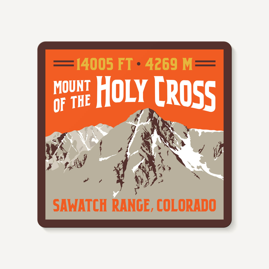 Mount of the Holy Cross Colorado 14er Embroidered Mountain Travel Decal Sticker