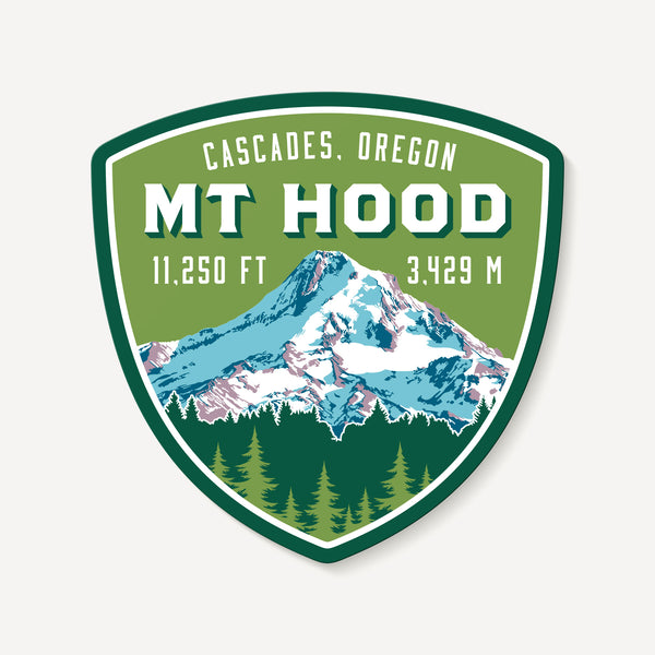 Mount Hood Oregon Cascades Mountain Travel Decal Sticker