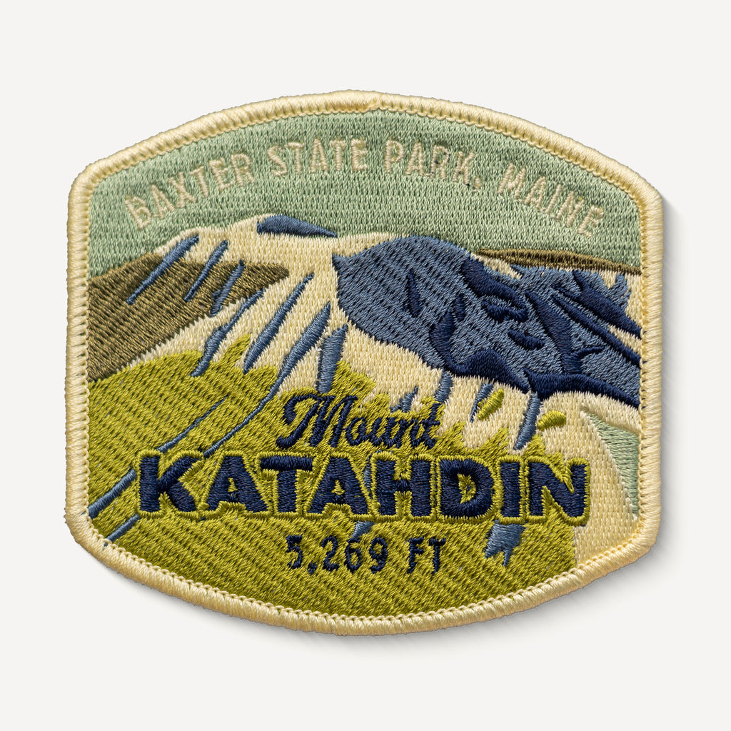 Mount Katahdin Maine Appalachian Trail Embroidered Iron-on Patch