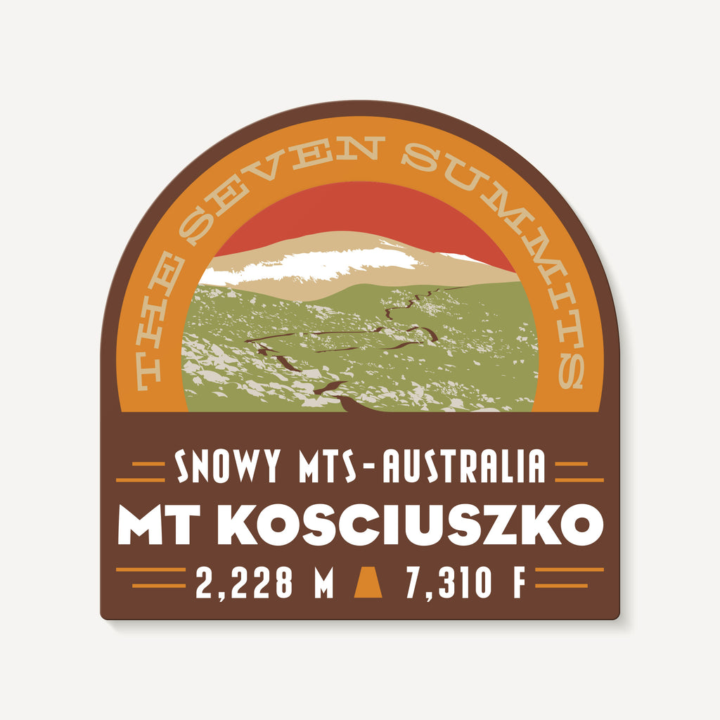 Mount Kosciuszko Australia Seven Summits Mountain Travel Decal Sticker