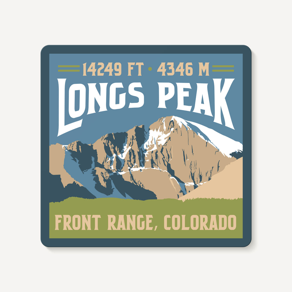 Longs Peak Colorado 14er Mountain Travel Decal Sticker