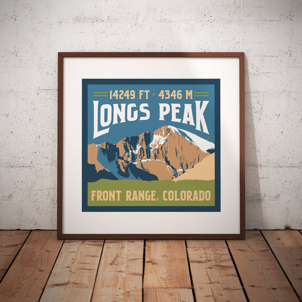 Longs Peak Colorado 14er Giclee Art Print