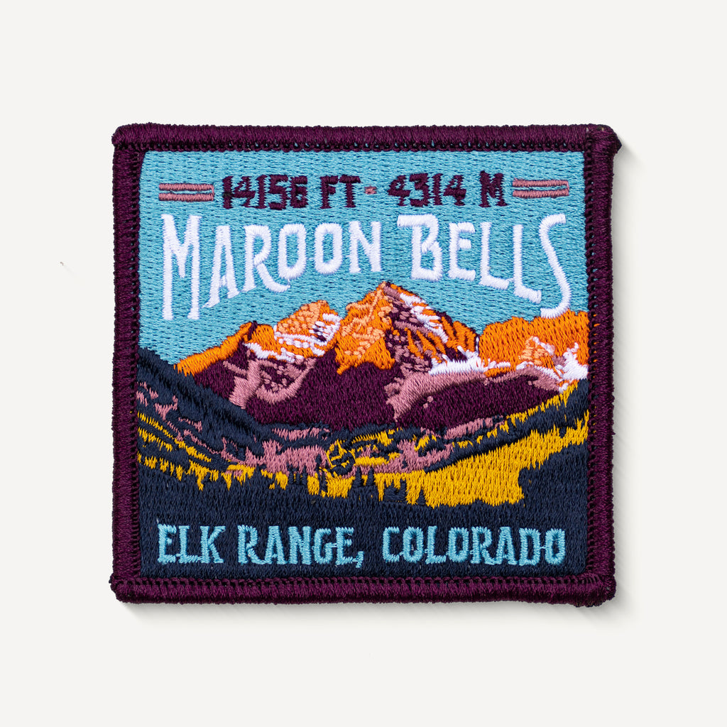 Maroon Bells Colorado 14ers Embroidered Mountain Travel Patch