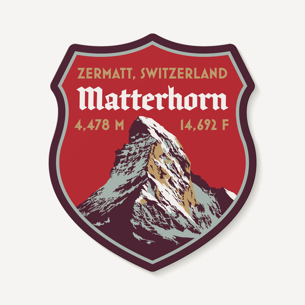 Matterhorn Zermatt Switzerland Swiss Alps Mountain Travel Decal Sticker
