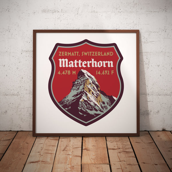 Matterhorn Switzerland Giclee Art Print