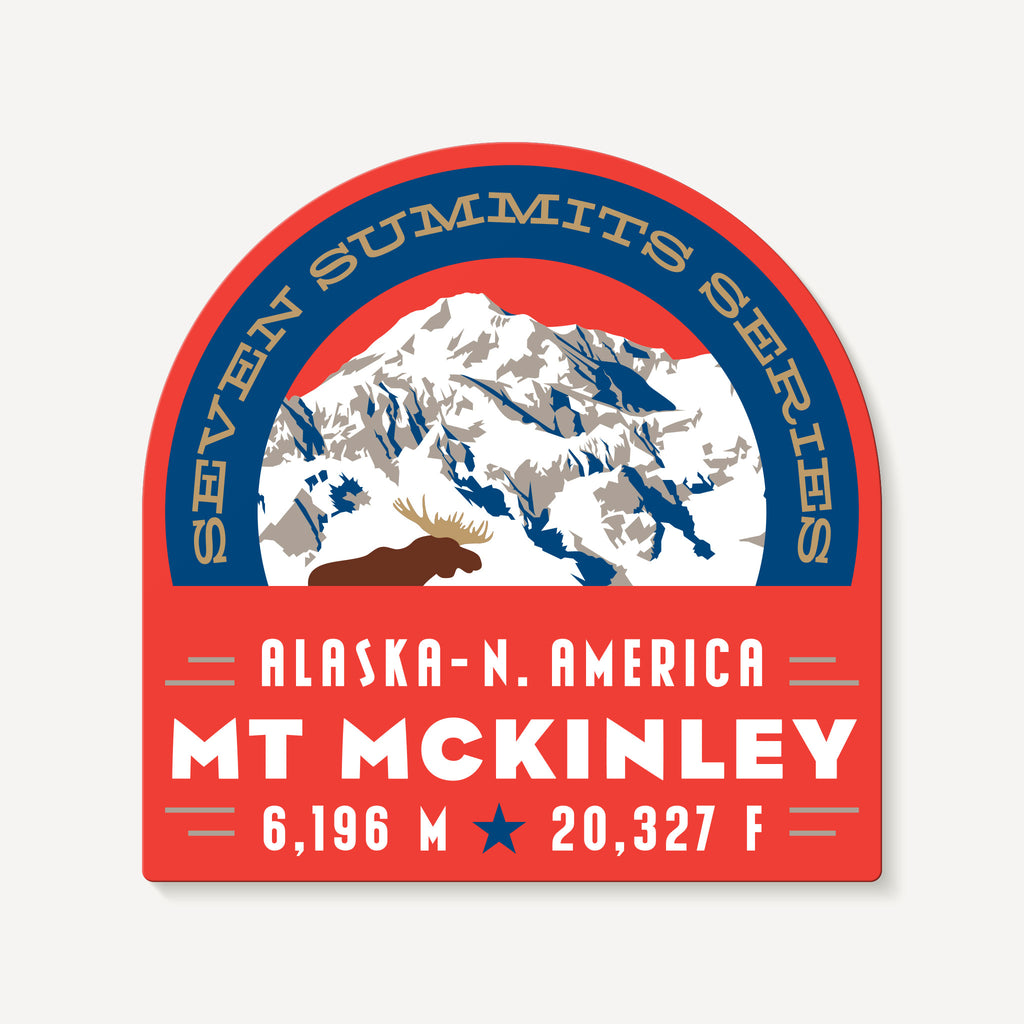 Mount McKinley Alaska Seven Summits Mountain Travel Decal Sticker