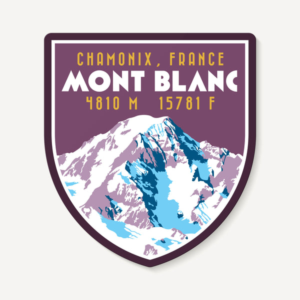 Mont Blanc Chamonix France Alps Mountain Travel Decal Sticker