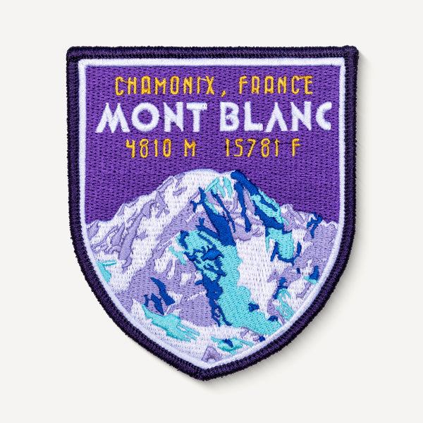 Mont Blanc Chamonix France Embroidered Iron-on Travel  Patch