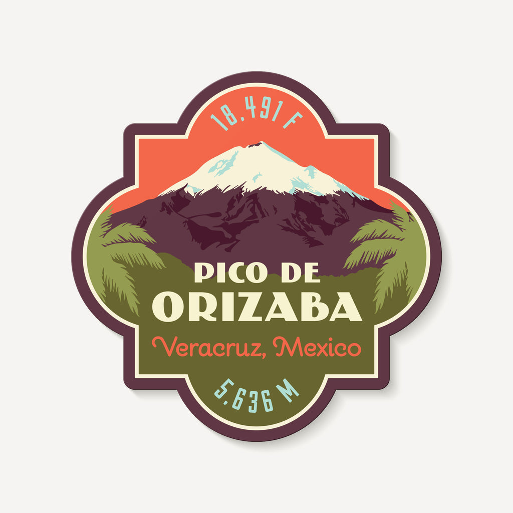 Pico de Orizaba Veracruz Mexico Mountain Travel Decal Sticker