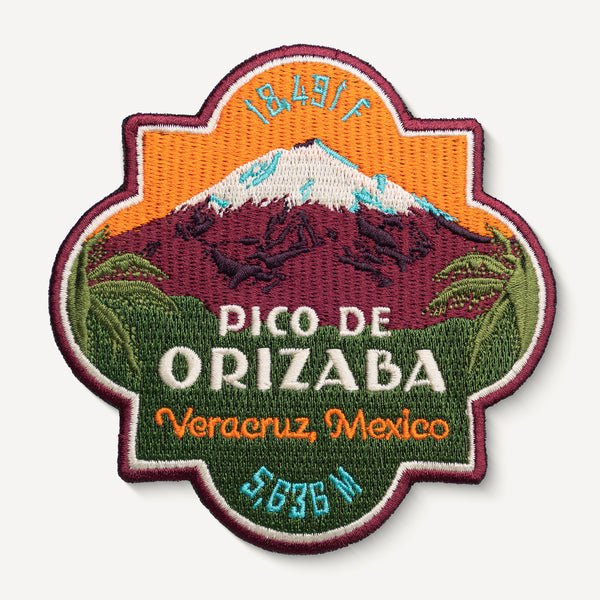 Pico de Orizaba Mexico Mountain Travel Patch