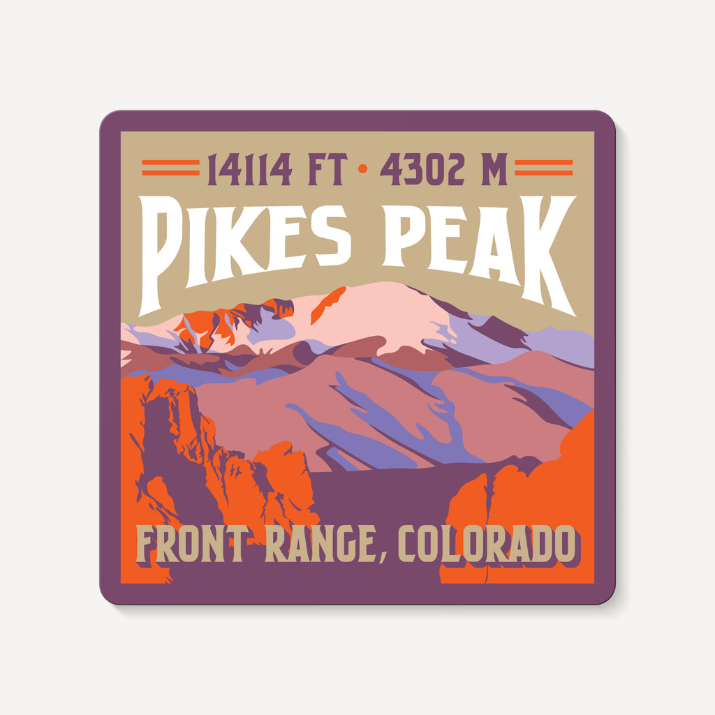 Pikes Peak Colorado 14er Mountain Travel Decal Sticker