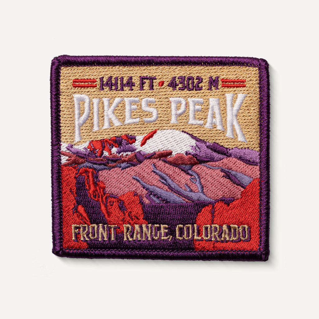 Pikes Peak Colorado 14er Patch Embroidered Iron-on Mountain Travel