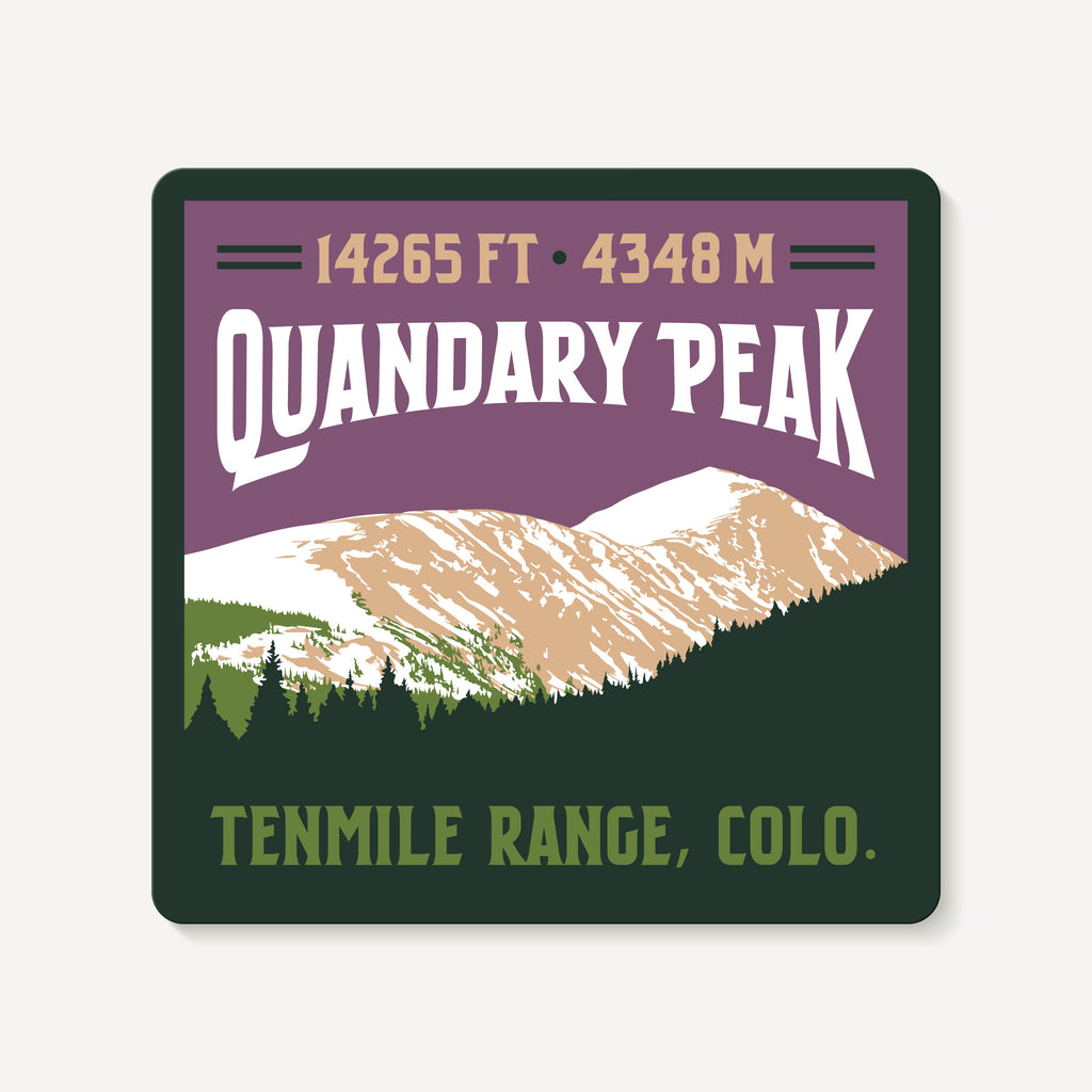 Quandary Peak Colorado 14er Mountain Travel Decal Sticker