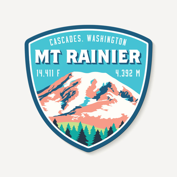 Mount Rainier Washington Cascades Mountain Travel Decal Sticker