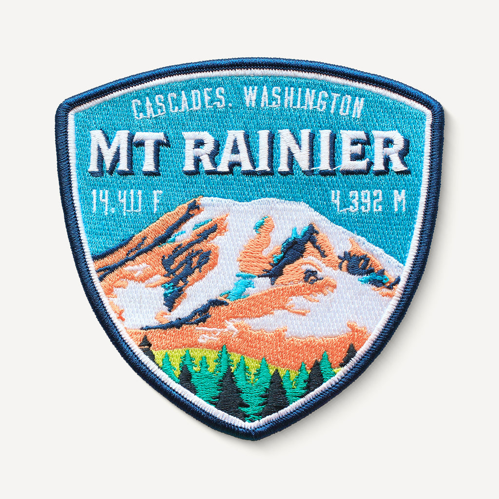 Mount Rainier Cascades Washington Patch