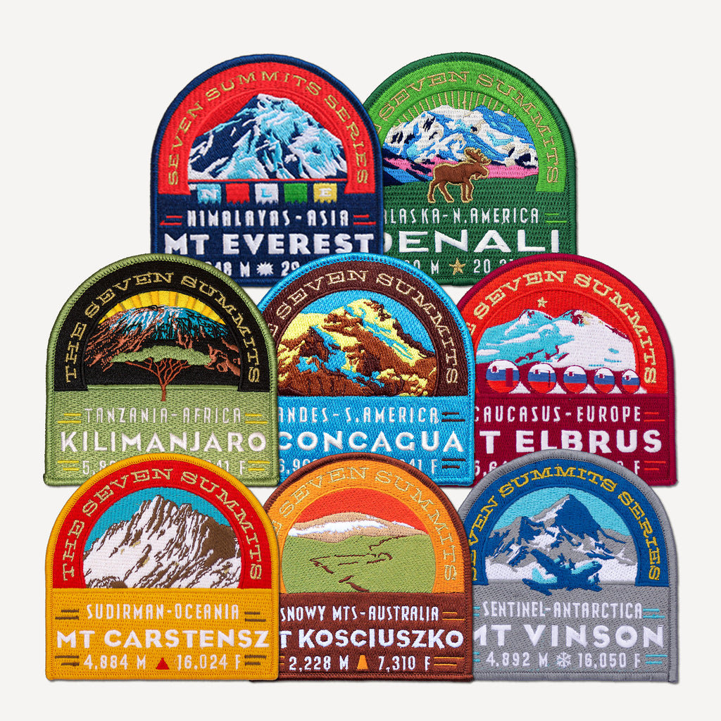 The Seven Summits Patch Collection