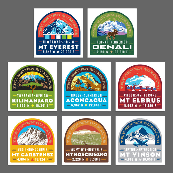 The Seven Summits Print Collection