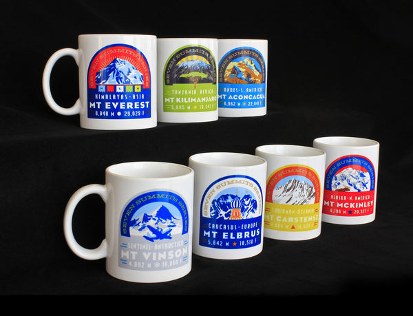 The Seven Summits Coffee Mug Collection