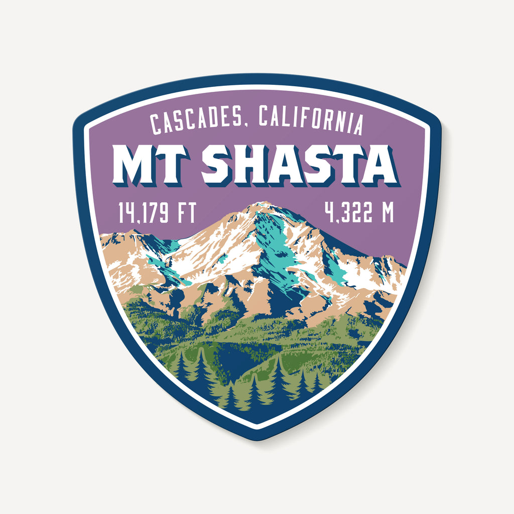Mount Shasta California Cascades Mountain Travel Decal Sticker