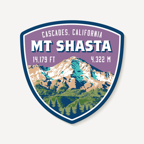 Mt. Shasta Decal Sticker